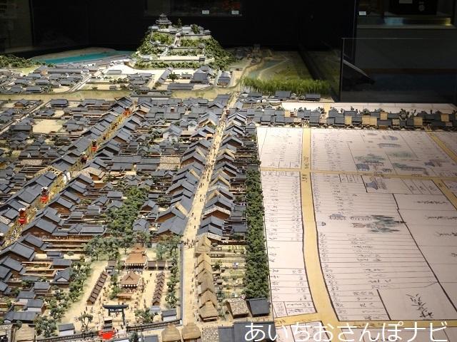 犬山城下町の城と町ミュージアムのジオラマ