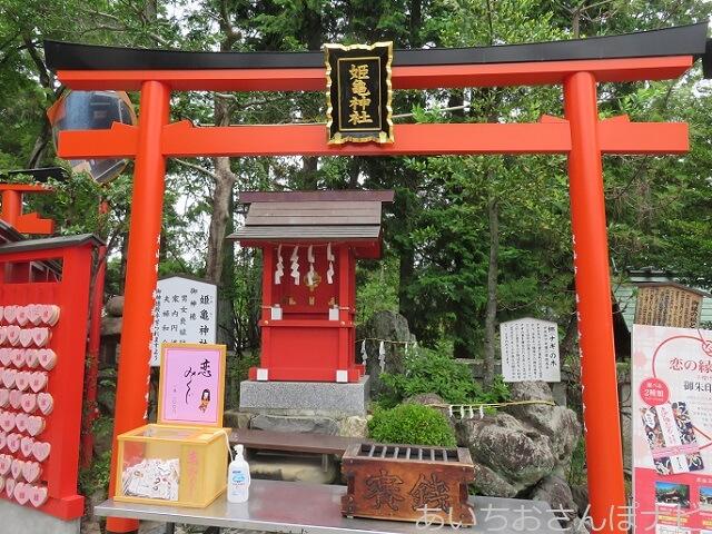 犬山市三光稲荷神社境内にある姫亀神社