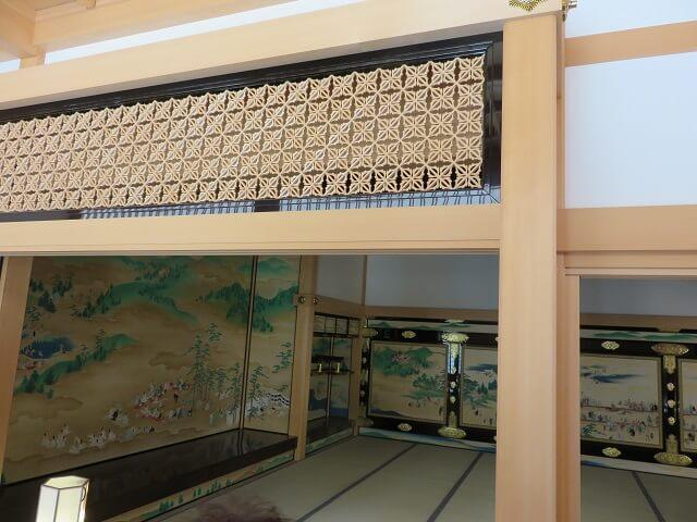 名古屋城本丸御殿の透かし彫り欄間