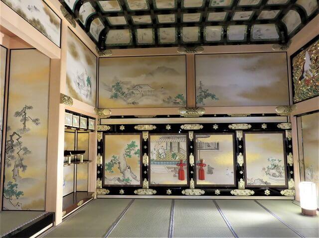 愛知県名古屋城の本丸御殿の上洛殿