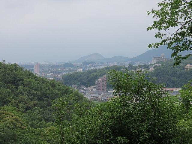 愛知県犬山市の寂光院の展望台からの風景