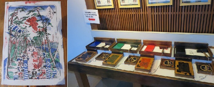 豊橋市二川宿本陣資料館の多色刷りによる浮世絵作り
