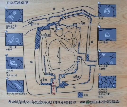 豊橋市吉田城の石垣刻印