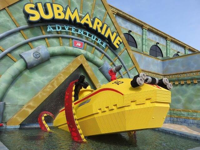 レゴランド名古屋のサブマリンアドベンチャーの潜水艇