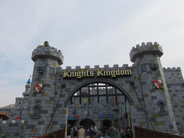 レゴランド名古屋のナイトキングダムエリアのゲート