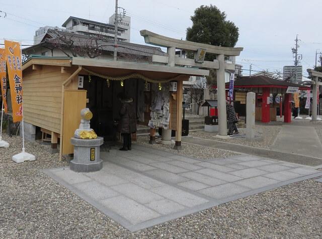 名古屋の山田天満宮にある金神社と銭洗い所