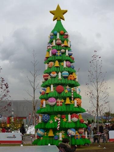 レゴランド名古屋のクリスマスツリー