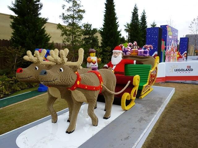 レゴランド名古屋のレゴブロックでできたクリスマスサンタ