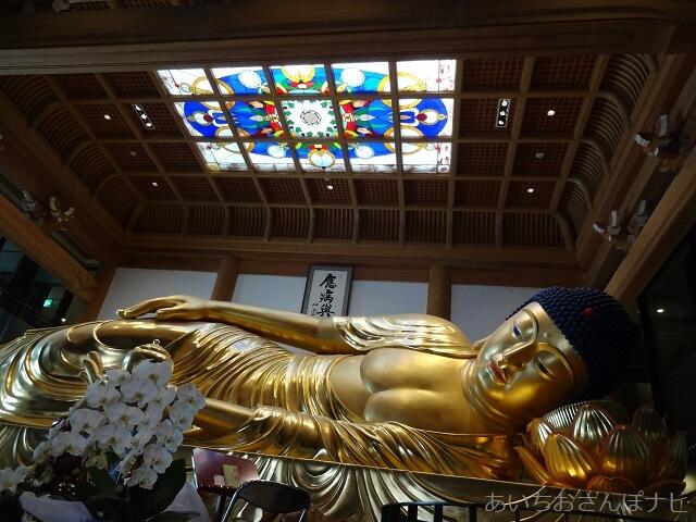愛知県岡崎市の一畑山薬師寺の涅槃像