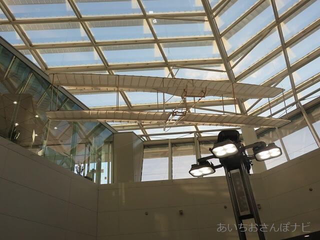 中部国際空港セントレアに展示されているライト兄弟のグラインダー