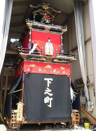 愛知県岩倉市五条川桜まつりで見られる山車