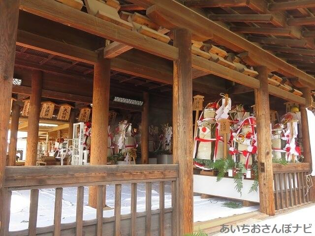 国府宮神社はだか祭りの鏡餅