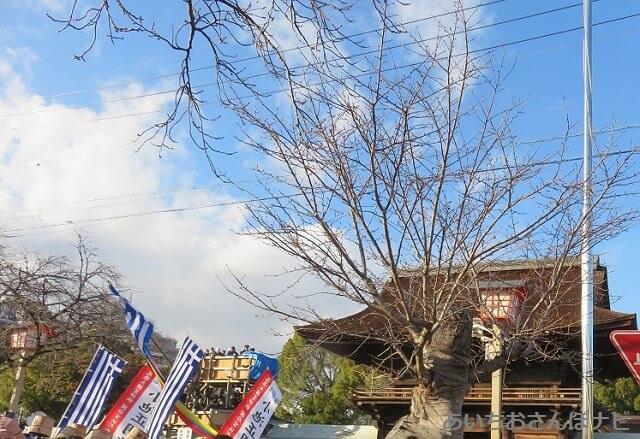 稲沢市国府宮神社はだか祭りの楼門前