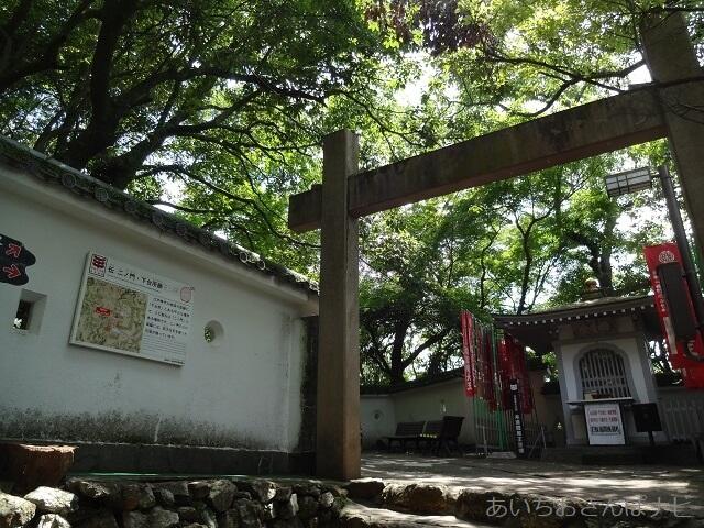 岐阜城の「天下第一の門」と閻魔堂