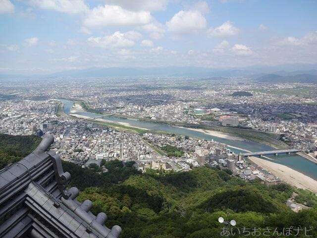 岐阜城天守からの眺め