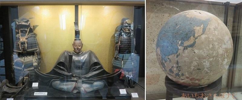 岐阜城内の史料展示室