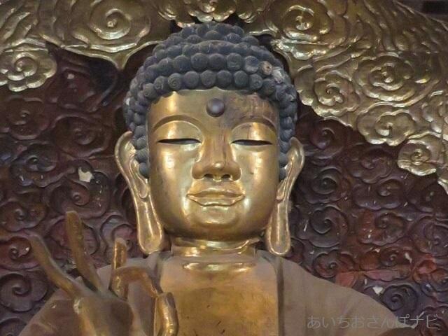 岐阜正法寺の大仏様のお顔