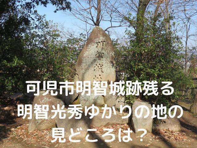 明智城跡の石碑