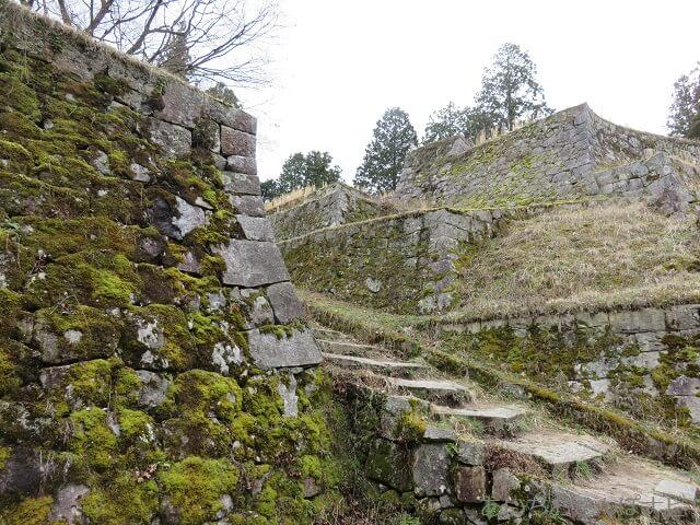 岐阜県恵那市岩村城跡の6段石垣