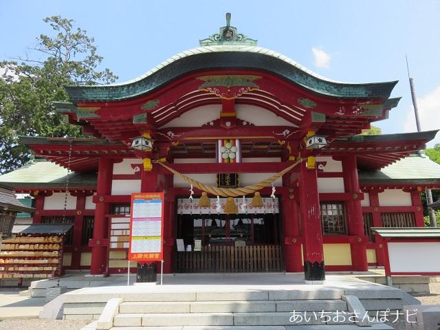 名古屋市千種区の上野天満宮の拝殿