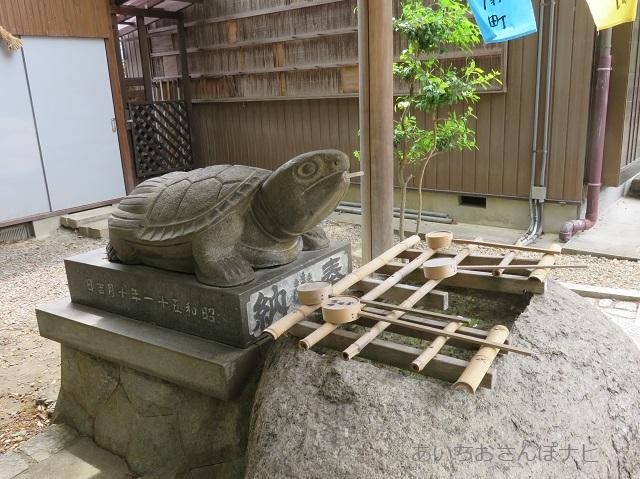 桶狭間神明社の手水舎