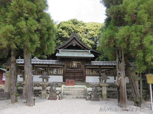 桶狭間神明社の拝殿