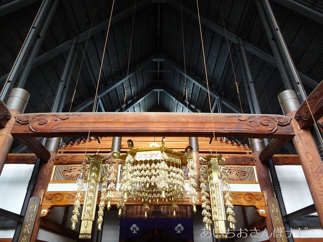 名古屋市西区小田井の善光寺別院願王寺の本堂の中