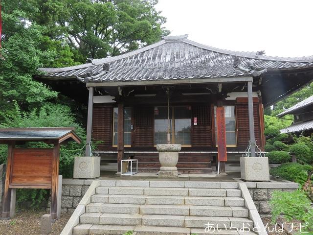 名古屋市西区小田井の善光寺別院願王寺のへちま薬師堂