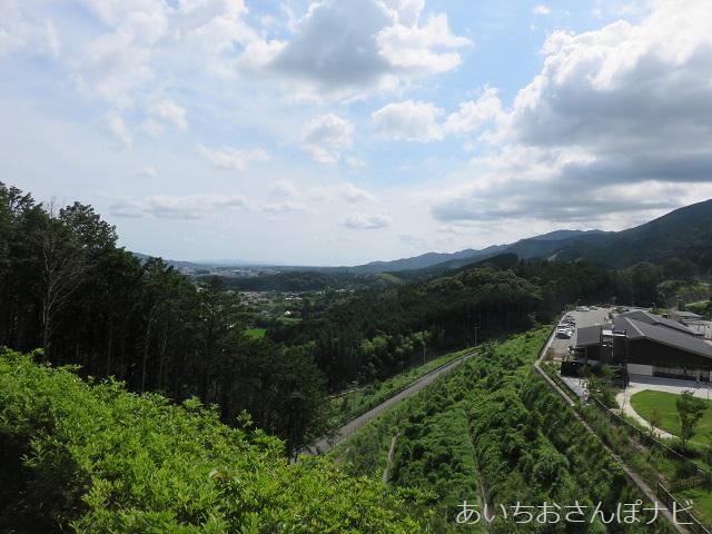 愛知県新城市の長篠設楽原の戦いの織田信長本陣跡からの風景