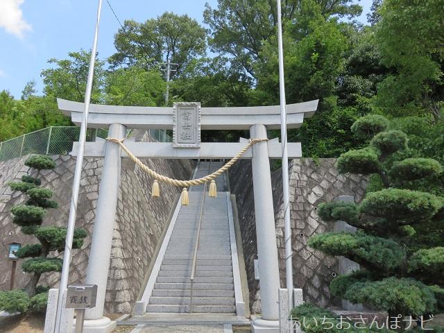 愛知県長久手市にある富士浅間神社の1の鳥居