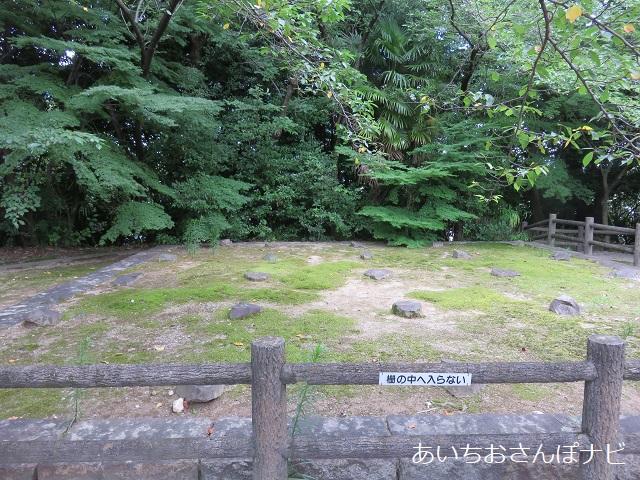愛知県日進市の岩崎城の隅櫓跡