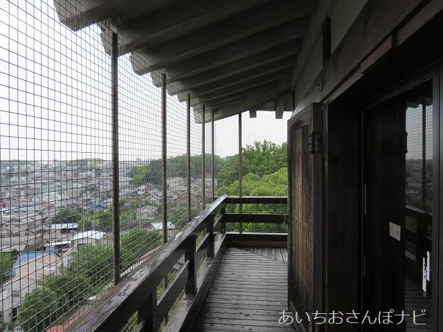 愛知県日進市の岩崎城の最上階