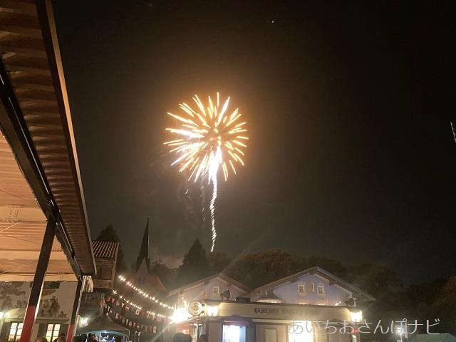 リトルワールドのナイトフェスティバルの花火