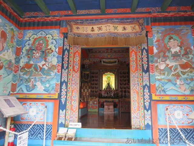犬山市のリトルワールドのネパール寺院