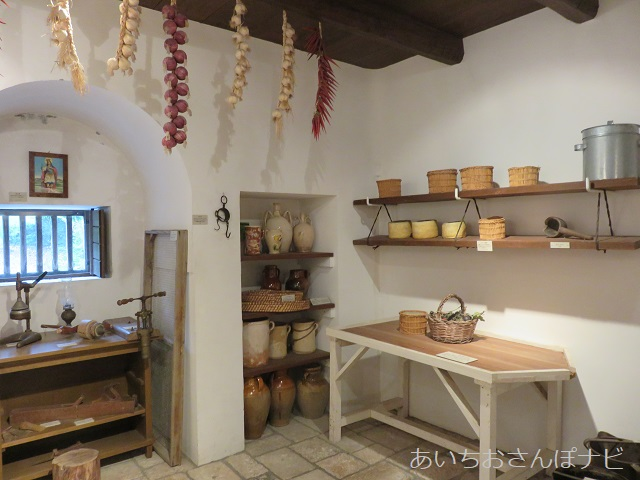 犬山市のリトルワールドの南イタリア、アルベロベッロの家の中
