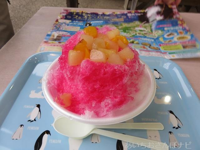 リトルワールドで食べれるフルーツかき氷