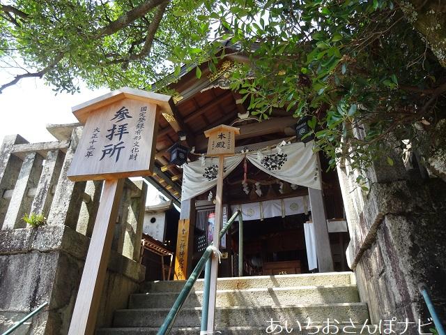滋賀県太郎坊宮の本殿