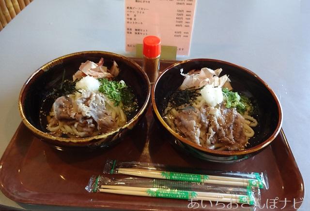 滋賀県近江八幡市の安土城考古学博物館内のレストランのうつけうどん