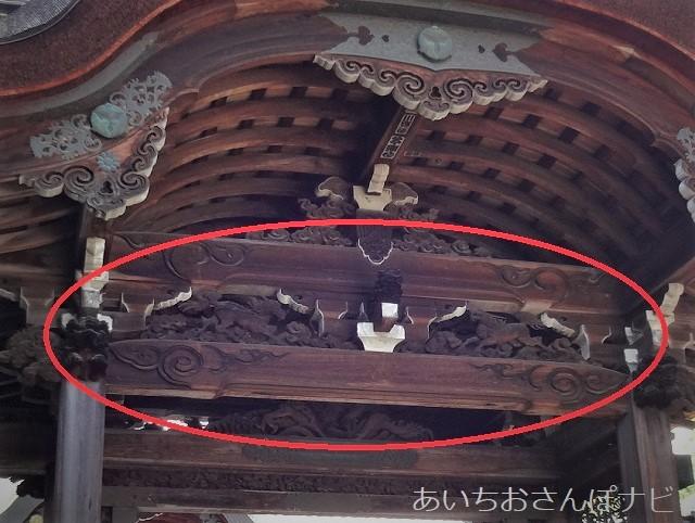 大津市坂本町の西教寺にある唐門の麒麟