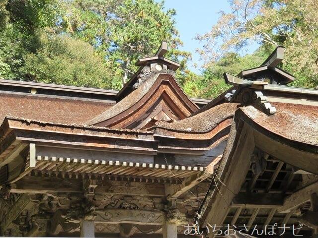 岐阜県美濃市大矢田神社の本殿