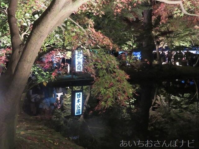 岐阜県曽木公園の逆さ紅葉