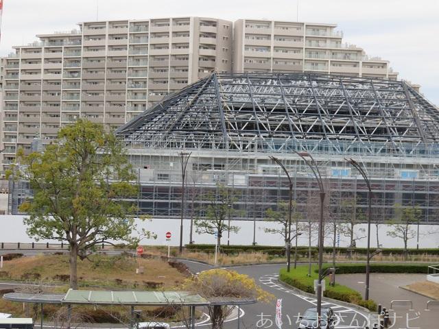 稲沢駅前に建設中の豊田合成記念体育館
