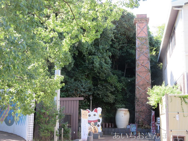 愛知県常滑市のやきものお散歩コースにある登窯広場展示工房館