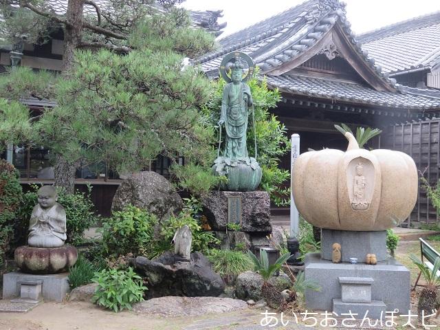 愛知県西尾市かぼちゃ寺の百寿かぼちゃ観世音