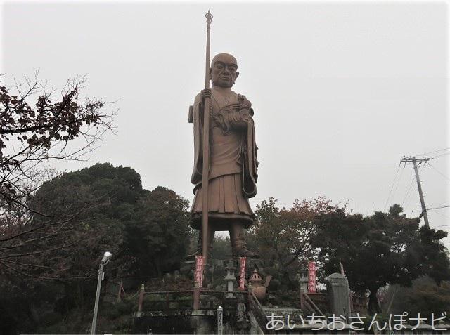 愛知県蒲郡市の子安弘法大師像