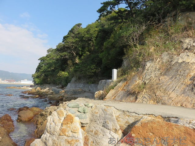 愛知県蒲郡市の竹島の遊歩道