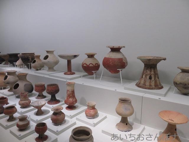 清須市のあいち朝日遺跡ミュージアムの出土品