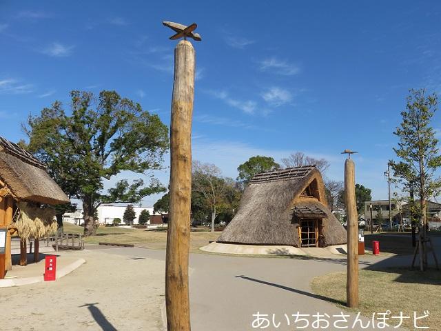 清須市のあいち朝日遺跡ミュージアムの竪穴住居