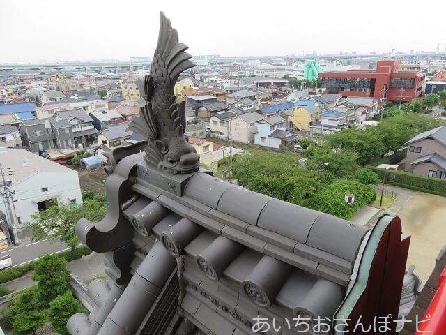 愛知県清須市にある清洲城のしゃちほこ