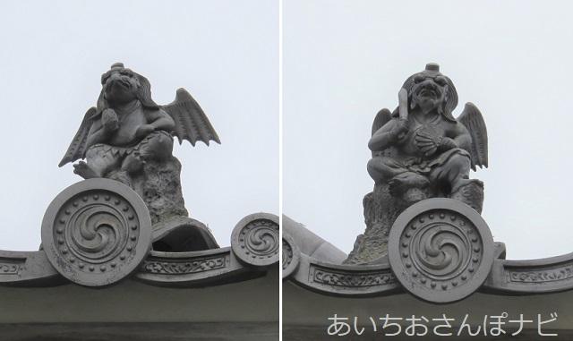 愛知県高浜市の塩前寺の烏天狗